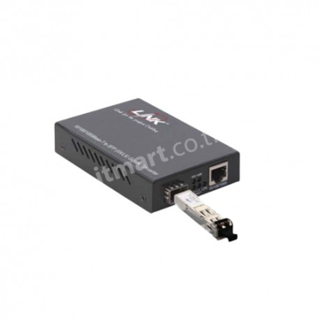 Link RJ45-LC (SM) 10/100/1000 Mbps LX Media Convector, 10 km.