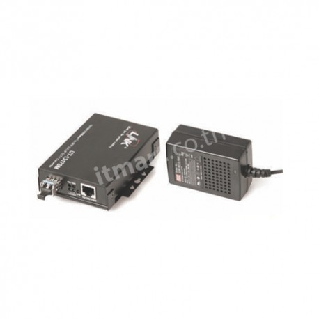 Link RJ45-LC (SM) 10/100/1000 Mbps LX Media Convector, 10 km. (Hardend Adaptor)