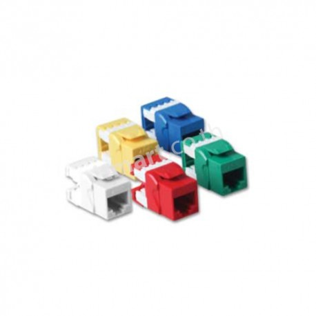 Link CAT5E Colorful Jack, Slim, สีเหลือง