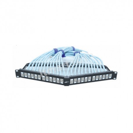 Link CAT6A Angle Patch Panel 24 Port, Auto Shutter