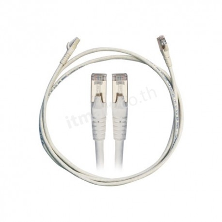 Link Shield CAT 6A RJ45-RJ45 Patch Cord 1 M., สีขาว