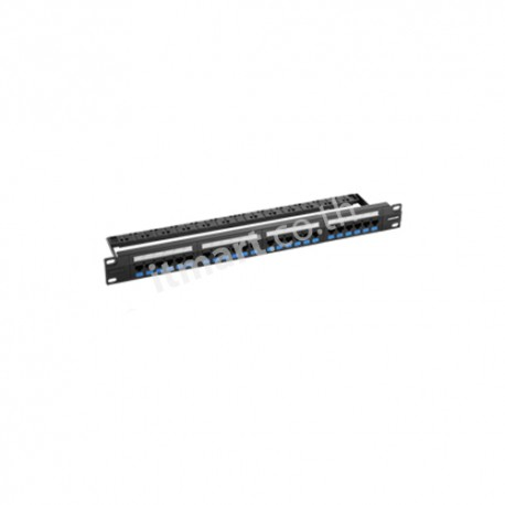 Furukawa UTP Patch Panel CAT 5E, 24 Port, Fixed Panel-Loaded