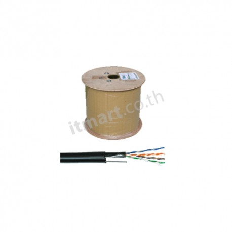 TE (AMP) CAT5E UTP Cable, PE, Outdoor w/Drop Wire (Single Jacket)