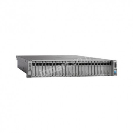 Cisco UCS C240M4SX w/2xE52660v3,2x16GB,MRAID,2x1200W,32G SD,RAILS